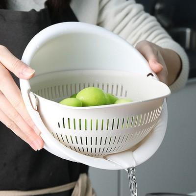 家用创意双层洗菜篮沥水盆