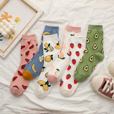 纯棉短袜(3双装图案随机)